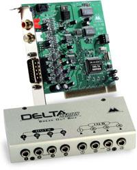 Exemple de carte son avec rack de connexion