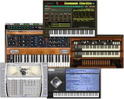 Les instruments virtuels se déclinent essentiellement sous forme de plug-ins.