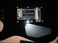 Enlevez la plaque, située au dos de la guitare, sous laquelle sont cachés les ressorts.
