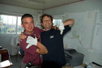 Thierry Lescouet et Dom Briand, les responsables propreté du festival.