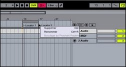 Les locators d'Ableton Live 5