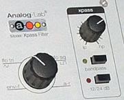 Basculement entre les modes de filtres dans l'Xpass Filter
