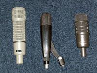 De gauche à droite : le RE20, le MD421 et l'AE2500