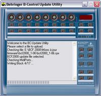 Utilitaire permettant de mettre à jour le firmware de la Behringer BCF2000