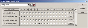 Routage des entrées MIDI dans Cakewalk Sonar 3 XL