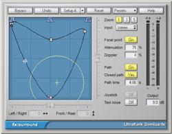 fx:surround, le plug-in de surrounding de la suite Ultrafunk Sonitus qui est désormais fournie avec Cakewalk Sonar 3