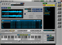 Edition de sample dans VSampler, l'échantilloneur virtuel de Cakewalk Sonar 3