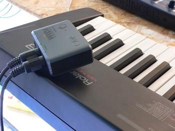 Sur un clavier