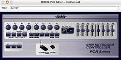 Le PCR Editor, un moyen simple sur Mac ou PC pour assigner les contrôleurs du PCR-1 d'Edirol.