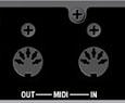 Entrée et Sortie MIDI de l'UA1000