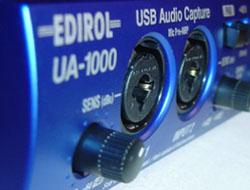 Entrées XLR sur l'UA-1000 d'Edirol
