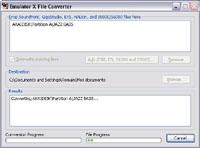 Conversion avec le logiciel Emulator X d'E-MU