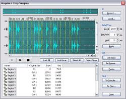 Acquisitaion avec le logiciel Emulator X d'E-MU