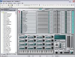Interface du logiciel Emulator X