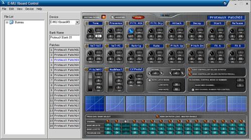Xboard Control : le logiciel qui permet d'assigner les contrôles de l'E-MU Xboard 49