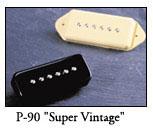 La Gibson LesPaul Faded DC est équipée de micros P-90.