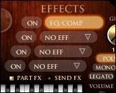 La section d'effet du Philharmonik Miroslav d'IK Multimedia permet d'étendre grandement la versatilité de la banque