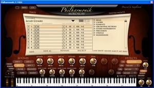 Une interface claire et spacieuse pour le Philharmonik Miroslav d'IK Multimedia
