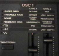 Fonctions de l'oscillateur 1 du JP8000