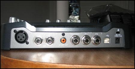 Face arrière de la Black Box de M-Audio