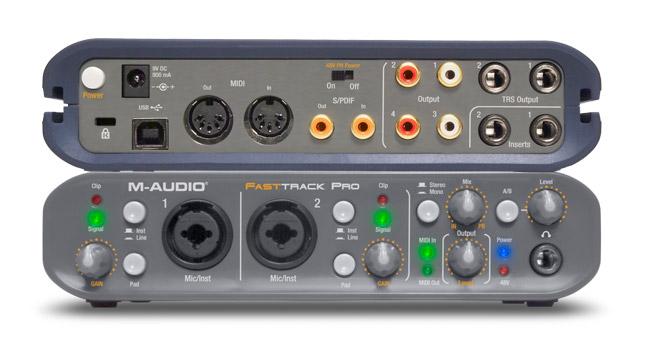 Une connectique complète pour la M-Audio Fast Track Pro