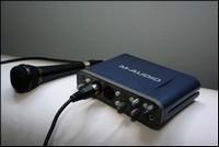 La Fast Track Pro de M-Audio : à peine plus longue qu'un micro...