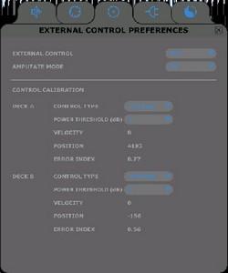 External control preferences