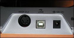 Connectique basique pour le Trigger Finger de M-Audio