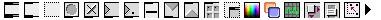 La barre d'icônes de Max-MSP ( IRCAM / Cycling'74)