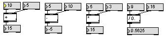 Calculs avec Max-MSP ( IRCAM / Cycling'74)