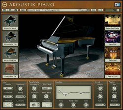 Belle interface pour l'Akoustik Piano de Native Instruments