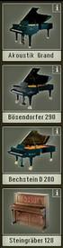 Les 4 modèles proposés par l'Akoustik Piano de Native Instruments