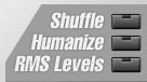 Fonctions Shuffle, Humanize et RMS Levels dans PowerFX Miracle Beats