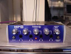Vue de face du préampli casque PreSonus HP4