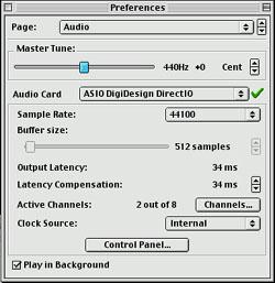 Préférences audio