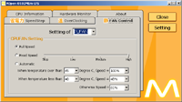 Paramétrage logiciel de la vitesse du ventilateur dans le Silent PC de Racksen