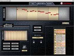 Edition des patterns de base grâce au Groove Control dans le Virtual Bassist de Steinberg