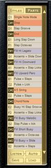 Virtual Bassist offre de nombreuses variations autour des lignes de basse de base