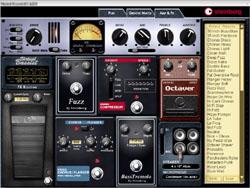 Les effets disponibles dans le Virtual Bassist de Steinberg