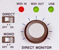 Fonctions de Monitoring direct de la Tascam US-122