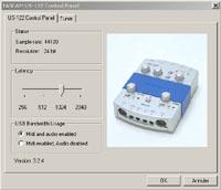 Réglage de la latence sur la Tascam US-122