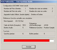Test de synchro de la Tascam US-122 sous Cubase SX