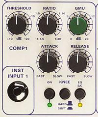Zoom sur le compresseur du 5052 de TL Audio