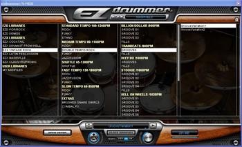 La bibliothèque de rythmes MIDI d'EZdrummer